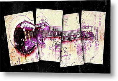 1955 Les Paul Custom Black Beauty V3 Metal Print by Gary Bodnar