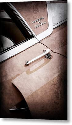 1955 Lincoln Indianapolis Boano Coupe Side Emblem -0355ac Metal Print