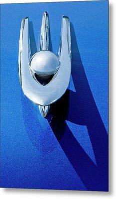 1955 Packard Clipper Hood Ornament 4 Metal Print by Jill Reger
