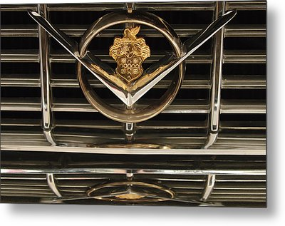 1955 Packard Hood Ornament Emblem Metal Print by Jill Reger
