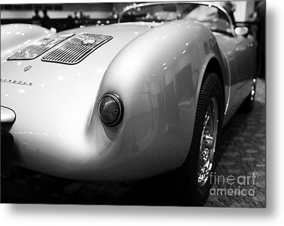 1955 Porsche 550 Rs Spyder . Black And White Photograph . 7d9453 Metal Print by Wingsdomain Art and Photography