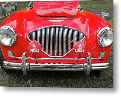 1956 Austin Healey 100 M Metal Print by Jack R Perry