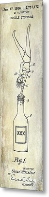 1956 Bottle Stopper Patent Metal Print by Jon Neidert