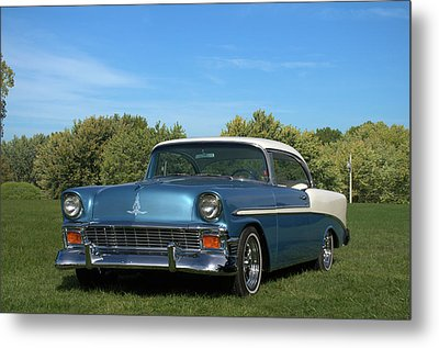 Metal Print featuring the photograph 1956 Chevrolet Belair by Tim McCullough