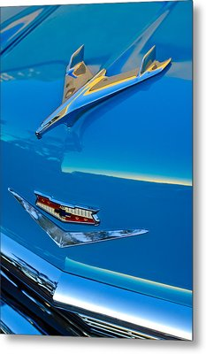 1956 Chevrolet Hood Ornament 4 Metal Print by Jill Reger