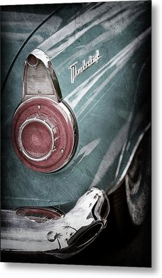 Metal Print featuring the photograph 1956 Ford Thunderbird Taillight Emblem -0382ac by Jill Reger