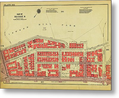 Metal Print featuring the photograph 1956 Inwood Map  by Cole Thompson