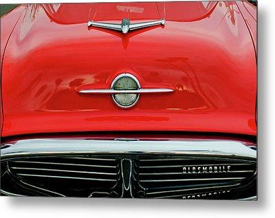 1956 Oldsmobile Hood Ornament 4 Metal Print by Jill Reger
