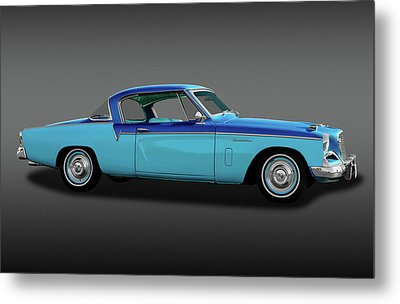 Metal Print featuring the photograph 1956 Studebaker Sky Hawk Coupe  -  1956studebakerskyhawkfa170517 by Frank J Benz