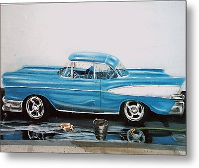 1957 Bel Air Metal Print by Susan Roberts
