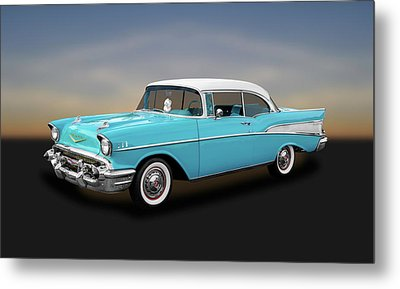 1957 Chevrolet Bel Air Sport Coupe   -   57chspcp260 Metal Print by Frank J Benz