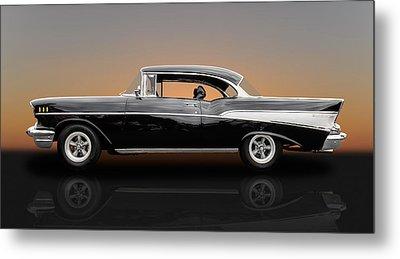 1957 Chevrolet Bel Air Sport Coupe - V1 Metal Print by Frank J Benz