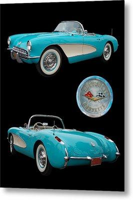 1957 Chevrolet Corvette Metal Print by Bill Dutting