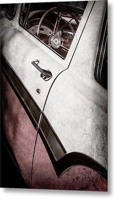 1957 Ford Custom 300 Series Ranchero Steering Wheel -0549ac Metal Print