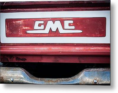 1957 Gmc Pickup Truck Tail Gate Emblem -0272c1 Metal Print