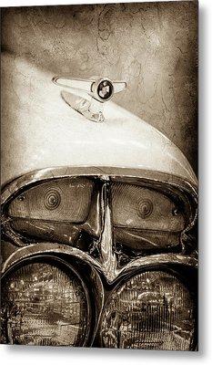 1957 Mercury Turnpike Cruiser Emblem -0749s Metal Print by Jill Reger