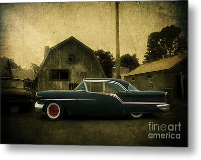 1957 Oldsmobile Metal Print by Joel Witmeyer