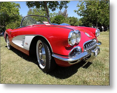 1958 Chevrolet Corvette . 5d16220 Metal Print by Wingsdomain Art and Photography