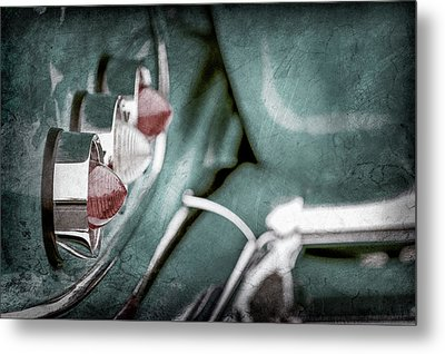 Metal Print featuring the photograph 1958 Chevrolet Impala Taillight -0544ac by Jill Reger