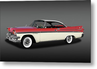 Metal Print featuring the photograph 1958 Dodge Custom Royal Lancer Super D-500  - 1958dgeroyalsupd500fa170482 by Frank J Benz