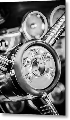 1958 Edsel Ranger Push Button Transmission 2 Metal Print by Jill Reger