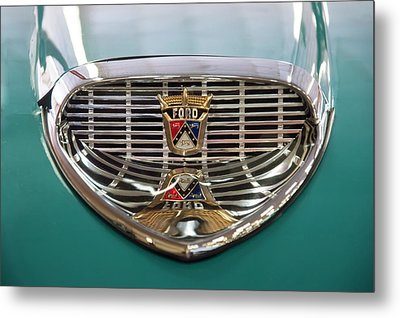 Metal Print featuring the digital art 1958 Ford Fairlane Sunliner Intake by Chris Flees