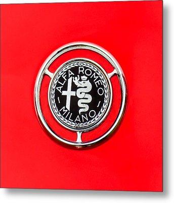 1959 Alfa-romeo Giulietta Sprint Emblem Metal Print by Jill Reger
