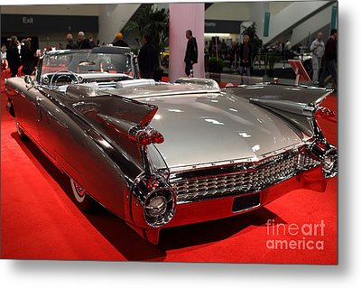 1959 Cadillac Convertible . Rear Angle Metal Print by Wingsdomain Art and Photography