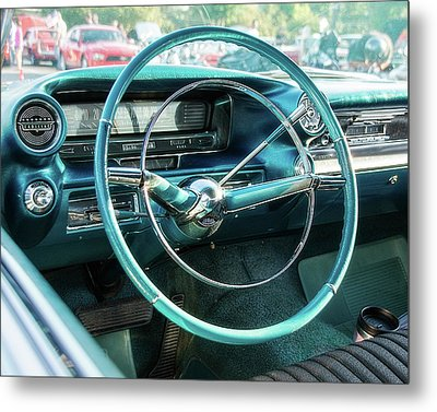 1959 Cadillac Sedan Deville Series 62 Dashboard Metal Print by Jon Woodhams