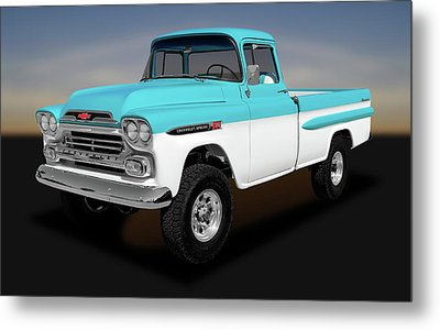 Metal Print featuring the photograph 1959 Chevrolet Apache 36 Fleetside  -  1959chevroletapache170564 by Frank J Benz