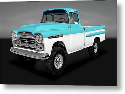 Metal Print featuring the photograph 1959 Chevrolet Apache 36 Fleetside   -   1959chevroletapachenapcogry170564 by Frank J Benz
