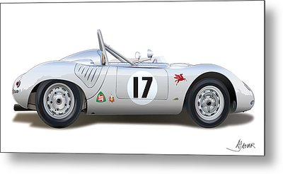 1959 Porsche Type 718 Rsk Spyder Metal Print by Alain Jamar
