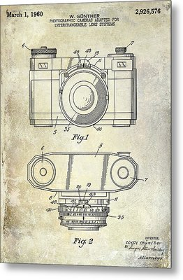 1960 Camera Patent Metal Print by Jon Neidert