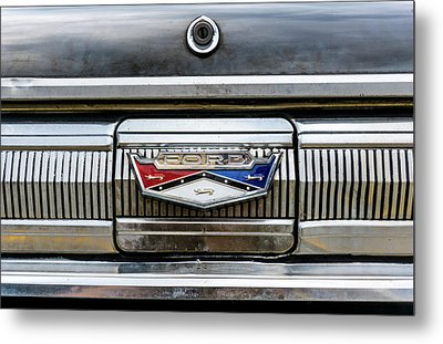 1960 Ford Falcon Trunk Lid Emblem Metal Print