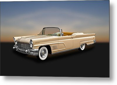 1960 Lincoln Continental Mark V Convertible   -   60licmkv300 Metal Print by Frank J Benz