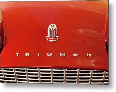 1960 Triumph Tr3 Emblem Metal Print by Jill Reger