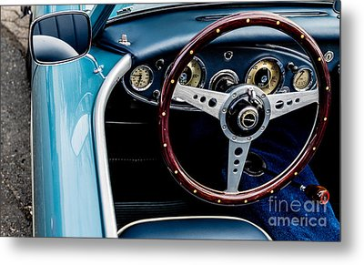 Metal Print featuring the photograph 1961 Austin Healey 3000 by M G Whittingham