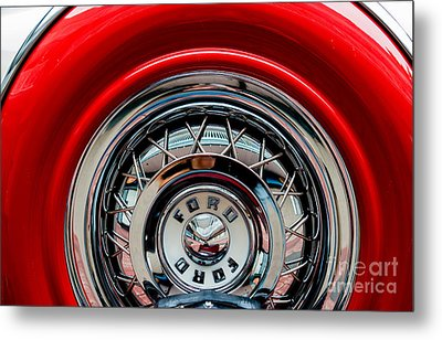 Metal Print featuring the photograph 1958 Ford Crown Victoria Wheel by M G Whittingham