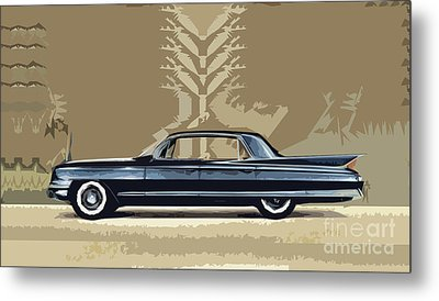 1961 Cadillac Fleetwood Sixty-special Metal Print by Bruce Stanfield