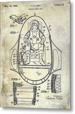 1962 Space Suit Patent Metal Print by Jon Neidert