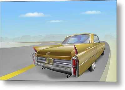 1963 Cadillac De Ville Metal Print by Marty Garland