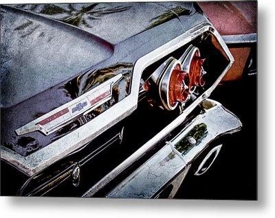 1963 Chevrolet Taillight Emblem -0183ac Metal Print by Jill Reger