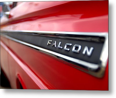 1965 Ford Falcon Name Plate Metal Print by Brian Harig