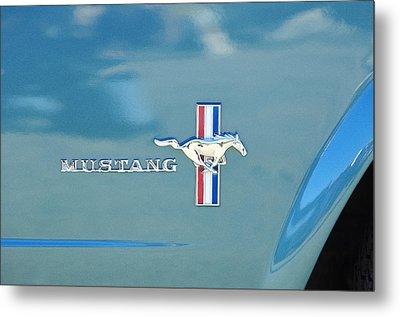 1965 Ford Mustang Emblem 6 Metal Print by Jill Reger