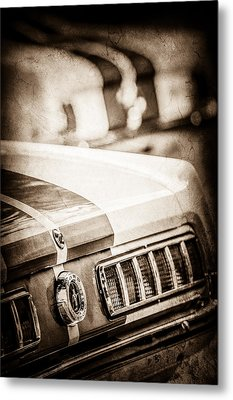 1965 Ford Shelby Mustang Gt 350 Tail Light -1037s Metal Print