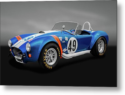 Metal Print featuring the photograph 1966 427 Shelby Cobra  -  1966shelby427cobragry170660 by Frank J Benz