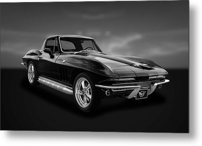 1966 C2 Chevrolet Corvette  -  66vtbw33 Metal Print