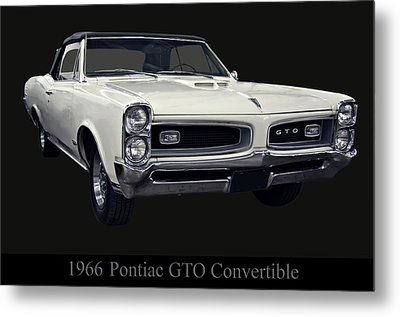 1966 Pontiac Gto Convertible Metal Print