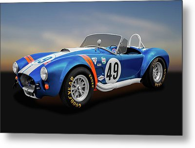 Metal Print featuring the photograph 1966 Shelby Cobra  -  1966shelbycobra427170660 by Frank J Benz
