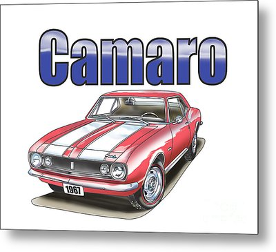 1967 Camaro Metal Print by Thomas J Herring
